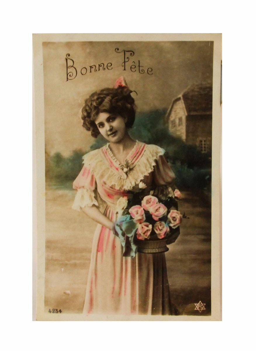 Открытка коллекционная винтажная, ОС33474 почтовая открытка колоризированное изображение франция начало xx века