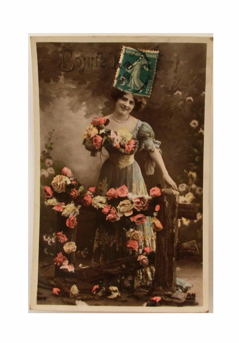 Открытка коллекционная винтажная, ОС33475 почтовая открытка колоризированное изображение франция начало xx века