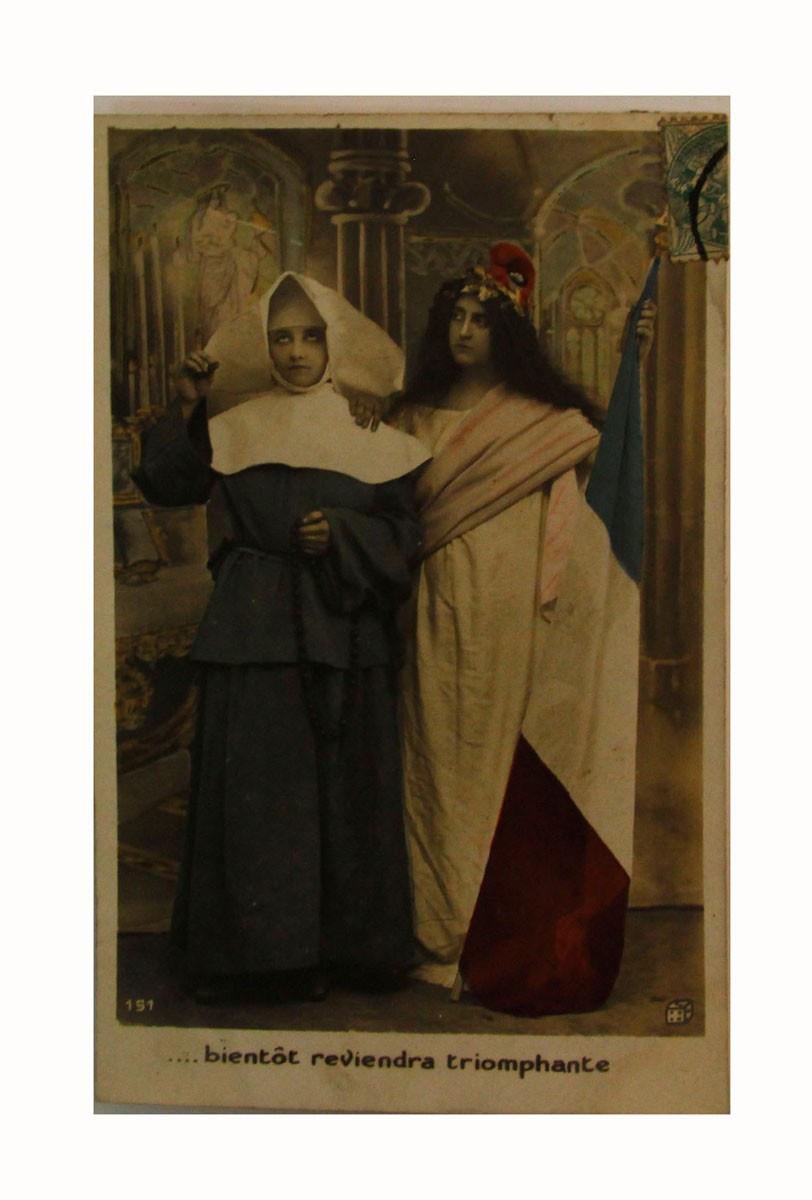 Открытка коллекционная винтажная, ОС33482 почтовая открытка колоризированное изображение франция начало xx века