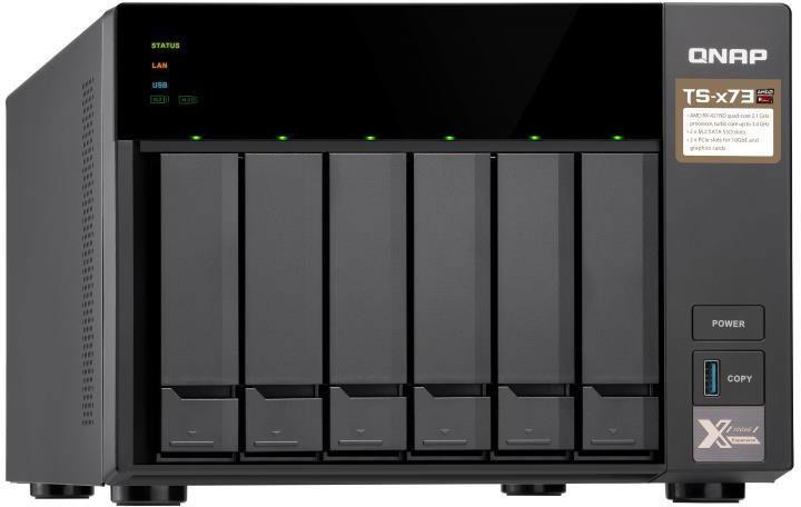 лучшая цена Сетевое хранилище QNAP, TS-673-4G 6-bay