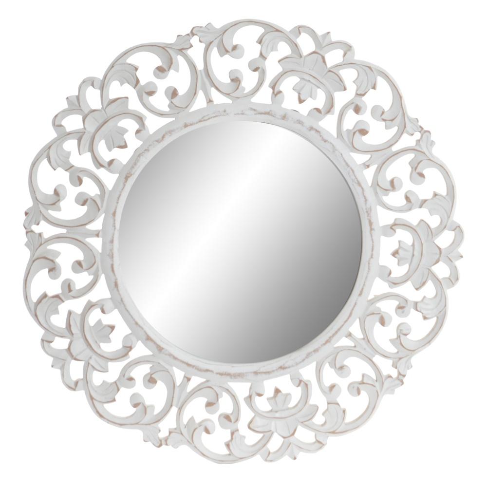 "Зеркало настенное Rich Line Home Decor ""Амми"" ES-147194, белый, 60 см"