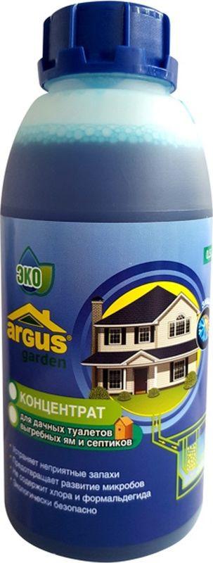 Средство для выгребных ям, септиков, дачных туалетов Argus, на 2 - 2,5 куба стоков, ТД.030008, 500 мл