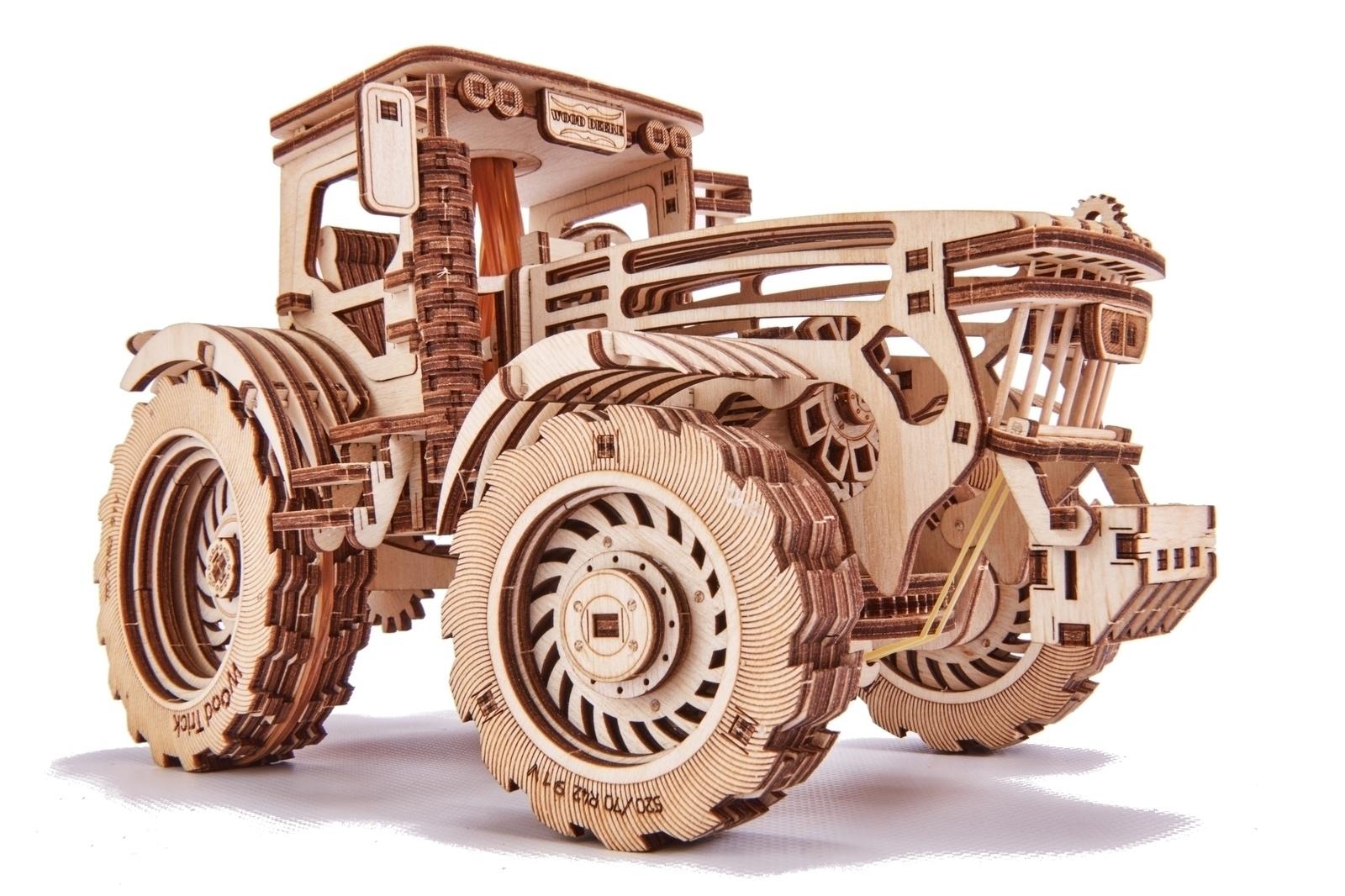 Механический конструктор из дерева Wood Trick Трактор