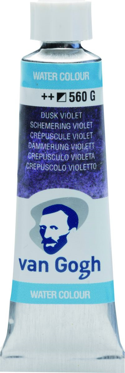 Акварель Royal Talens Van Gogh, 20015601, 560 сумерочно-фиолетовый, 10 мл royal talens набор акварельных красок van gogh 12 цветов 20808631