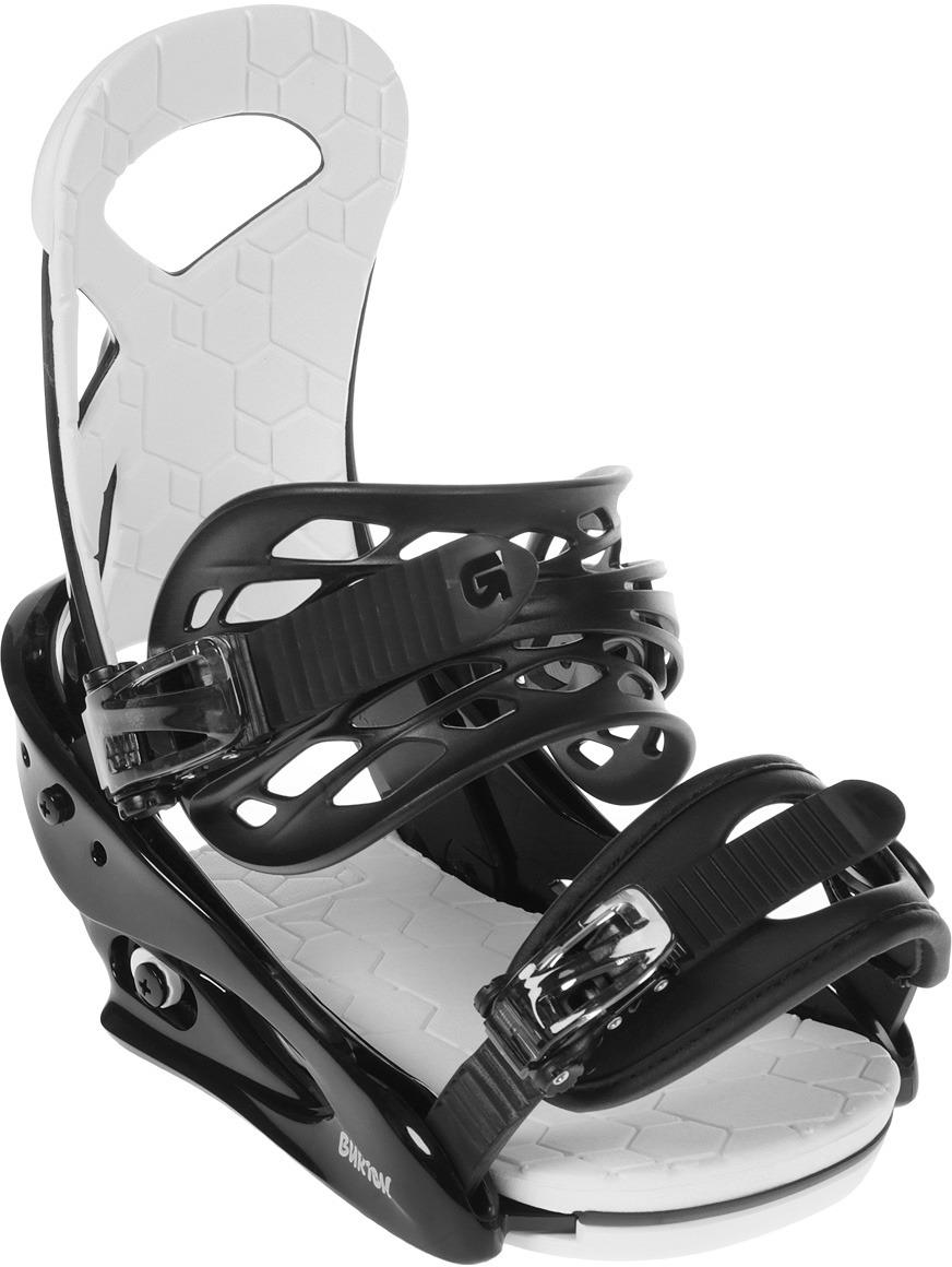 Крепления для сноуборда Burton Smalls, 10575105001L, черный, для мальчика, размер L
