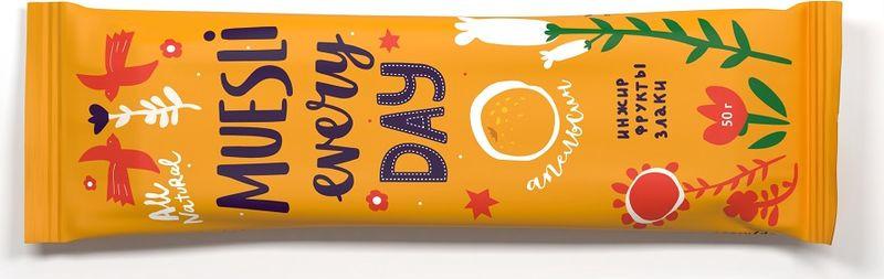 Фруктово-злаковый батончик Effort, инжир с апельсином, 50 г фруктово злаковый батончик effort инжир с яблоком и корицей 50 г