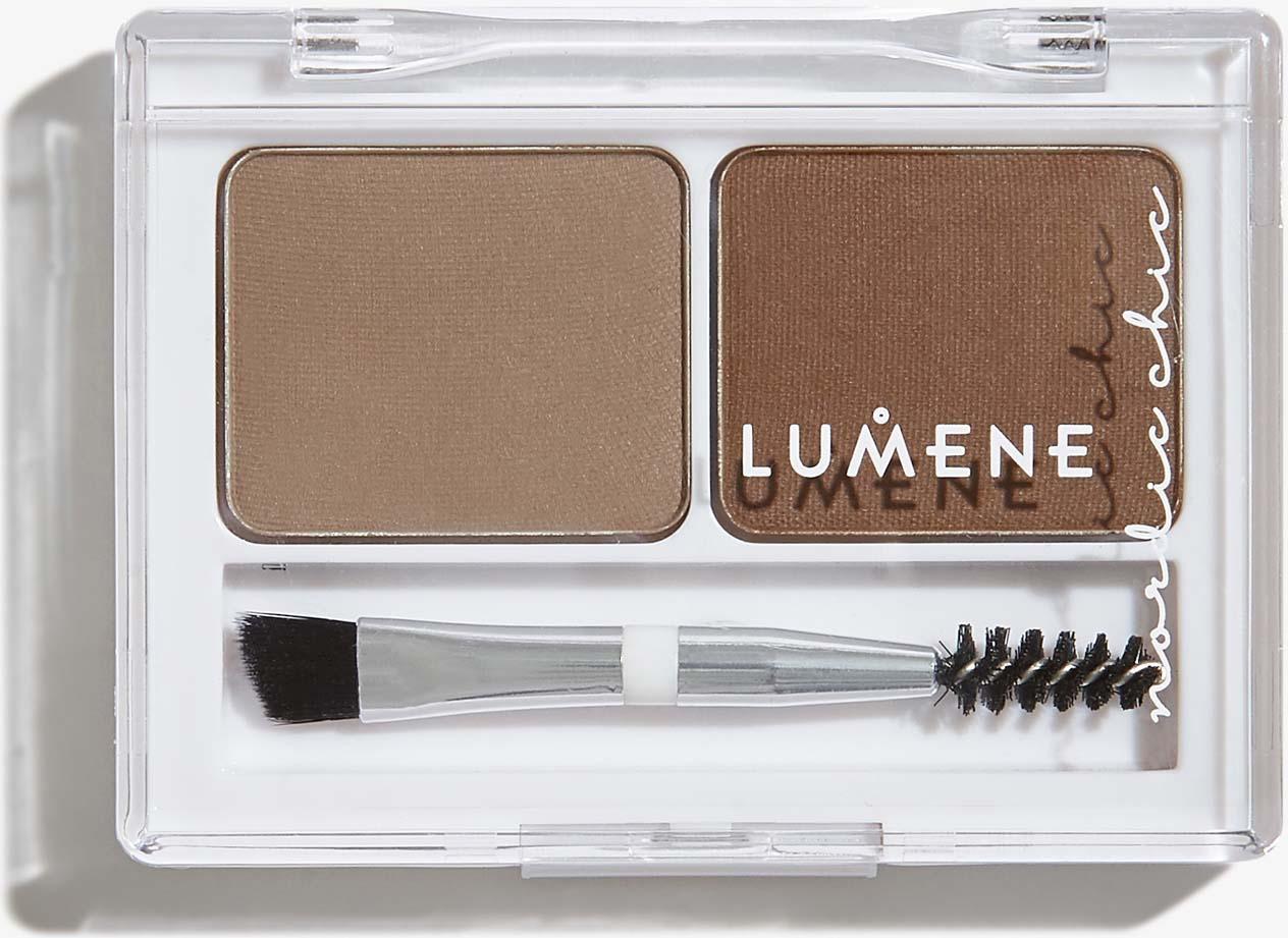 Тени для бровей Lumene Nordic Chic, средний коричневый, 3.6 г недорого