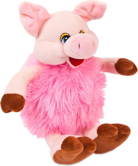 Игрушка мягкая ABtoys Свинка пушистая, 17 см, 19583, розовый мягкая игрушка abtoys свинка пушистая 16 см 19758