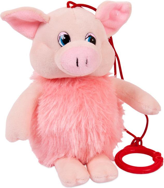 Мягкая игрушка ABtoys Свинка пушистая, 16 см, 19758 мягкая игрушка abtoys свинка пушистая 16 см 19758