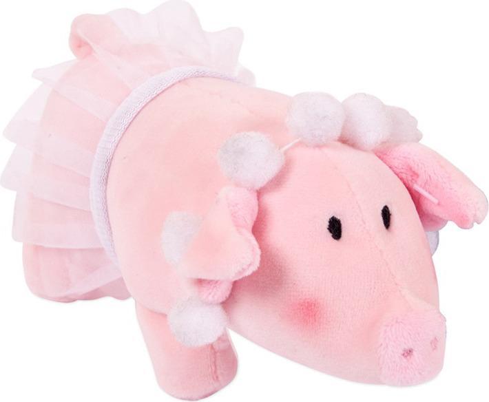 Мягкая игрушка ABtoys Свинка с бусами в юбке-пачке, 19857 мягкая игрушка abtoys свинка пушистая 16 см 19758