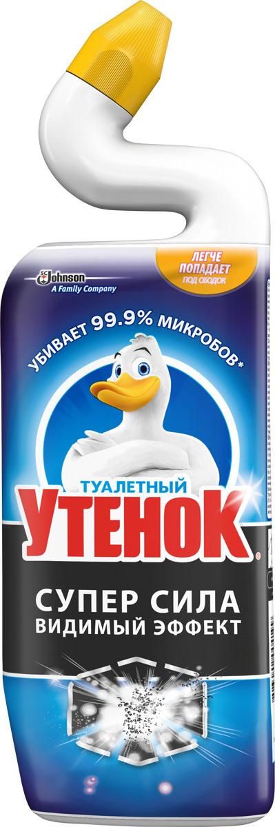 Средство для ванной и туалета Туалетный утенок Суперсила видимый эффект, 696892, 500 мл чистящее средство для унитаза bref сила актив с хлор компонентом 50г