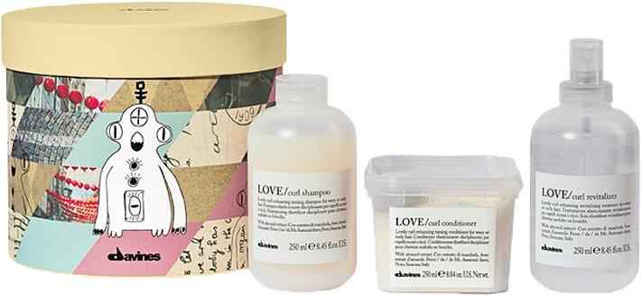 Косметический набор для волос Davines Love Curl для волнистых или кудрявых волос шампунь 250 мл + кондиционер 250 мл + ревиталайзер 250 мл 250 cnc