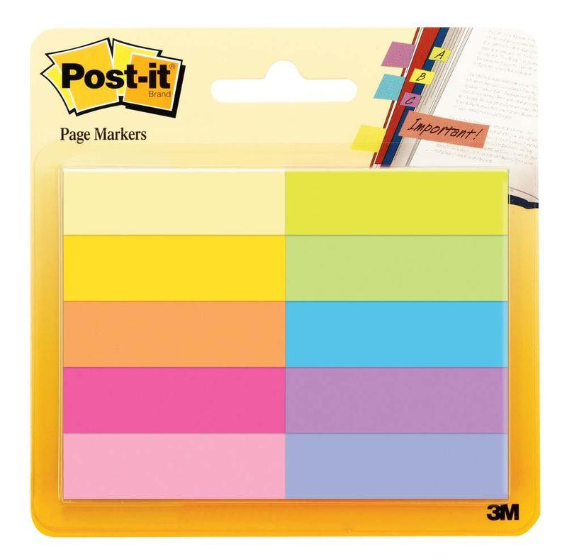 Закладки клейкие Post-it, 395555, 10 цветов по 50 листов закладки клейкие post it 494572 3 цвета по 100 листов