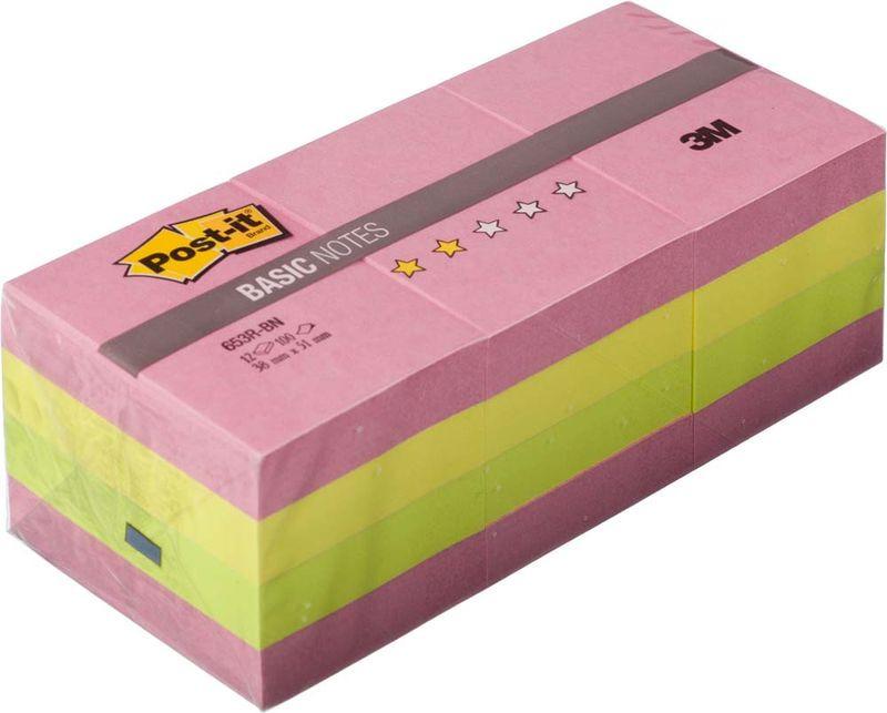 Клейкая бумага для заметок Post-it Basic, 416840, 3,8 x 5,1 см, 12 блоков по 10 листов клейкая бумага для заметок post it basic 345936 3 8 х 5 1 см 12 блоков по 100 листов