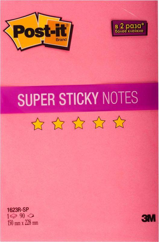 Клейкая бумага для заметок Post-it SuperSticky, 488469, 15 x 22,8 см, 90 листов