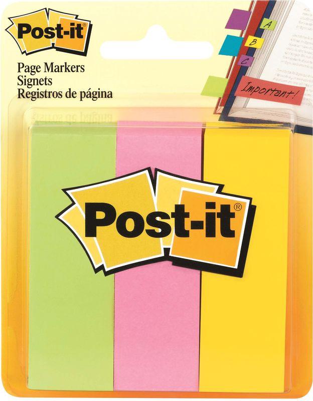 Закладки клейкие Post-it, 494572, 3 цвета по 100 листов