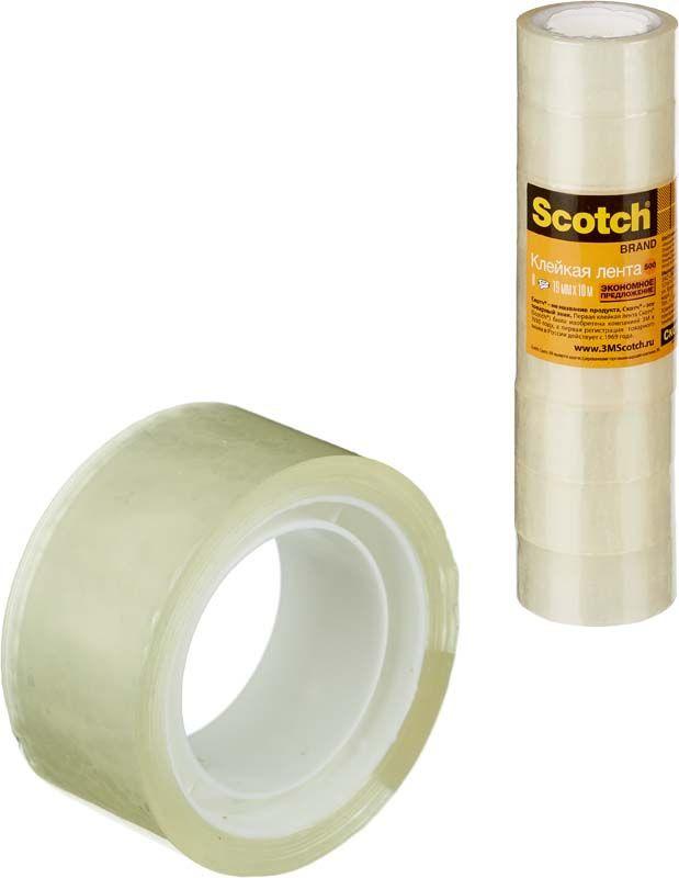 Скотч Scotch, 55824, 1,9 см х 10 м, 8 шт лента клейкая двусторонняя scotch 12 мм х 10 м
