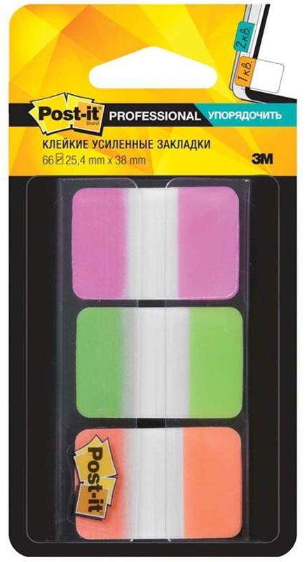 Закладки клейкие Post-it Proffessional, 72250, 3 цвета по 22 листа закладки клейкие post it 494572 3 цвета по 100 листов