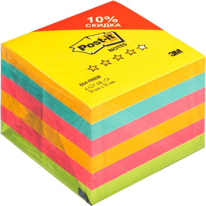 Бумага для заметок Post-it Original, 738391, 7,6 х 7,6 см, 6 блоков по 100 листов клейкая бумага для заметок post it basic 345936 3 8 х 5 1 см 12 блоков по 100 листов