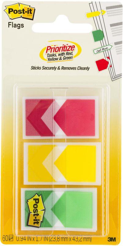 Закладки клейкие Post-it Proffessional, 738394, 3 цвета по 20 листов закладки клейкие post it 494572 3 цвета по 100 листов