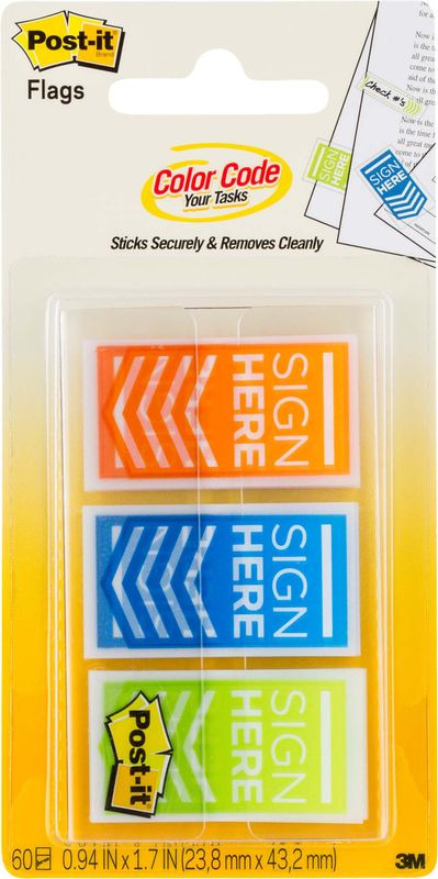 Закладки клейкие Post-it Proffessional, 738395, 3 цвета по 20 листов закладки клейкие post it 494572 3 цвета по 100 листов