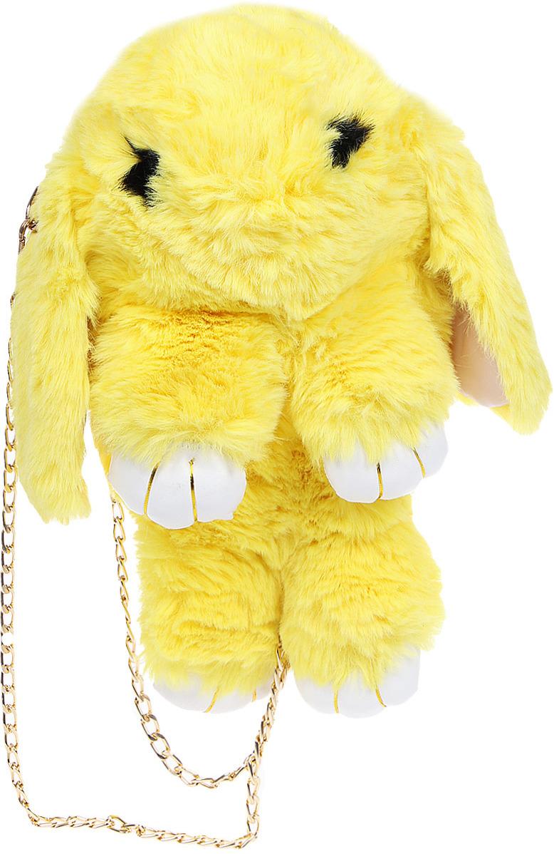 Vebtoy Рюкзак дошкольный Пушистый кролик цвет: желтый