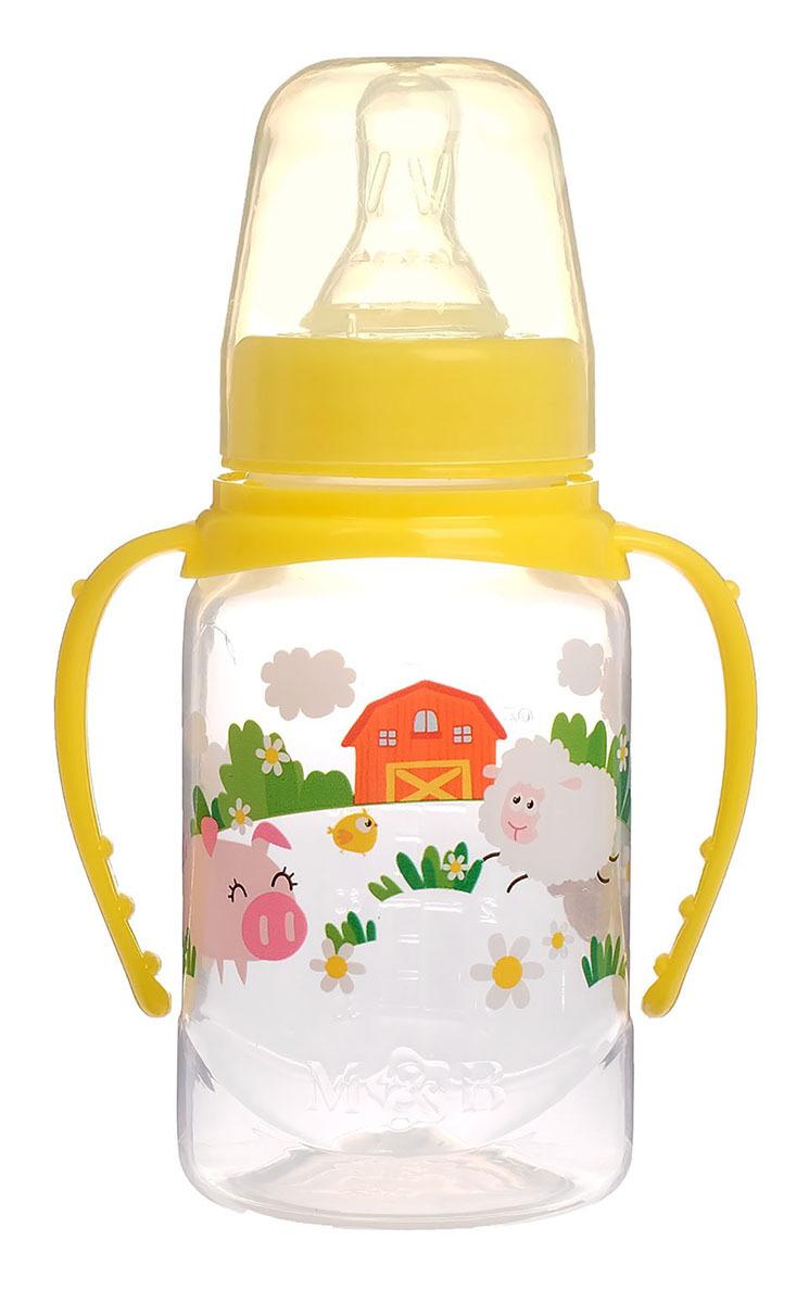 Бутылочка для кормления Mum&Baby Веселая ферма, 2969879, желтый, 150 мл