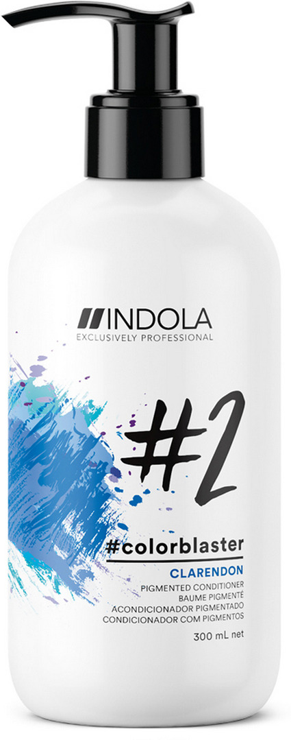 Тонирующее средство Indola Colorblaster Клэрендон, синий, 300 мл2370045Гамма тонирующих кондиционеров состоит из 5 стильных оттенков и 1 нейтрализатора желтизны. Помимо цветного окрашивания кондиционер ухаживает за волосами. Удобная в нанесении текстура подходит для разных техник тонирования. В среднем бутылочки хватает на 15 применений (если волосы средней длины), стойкость цвета до 10 применений шампуня.