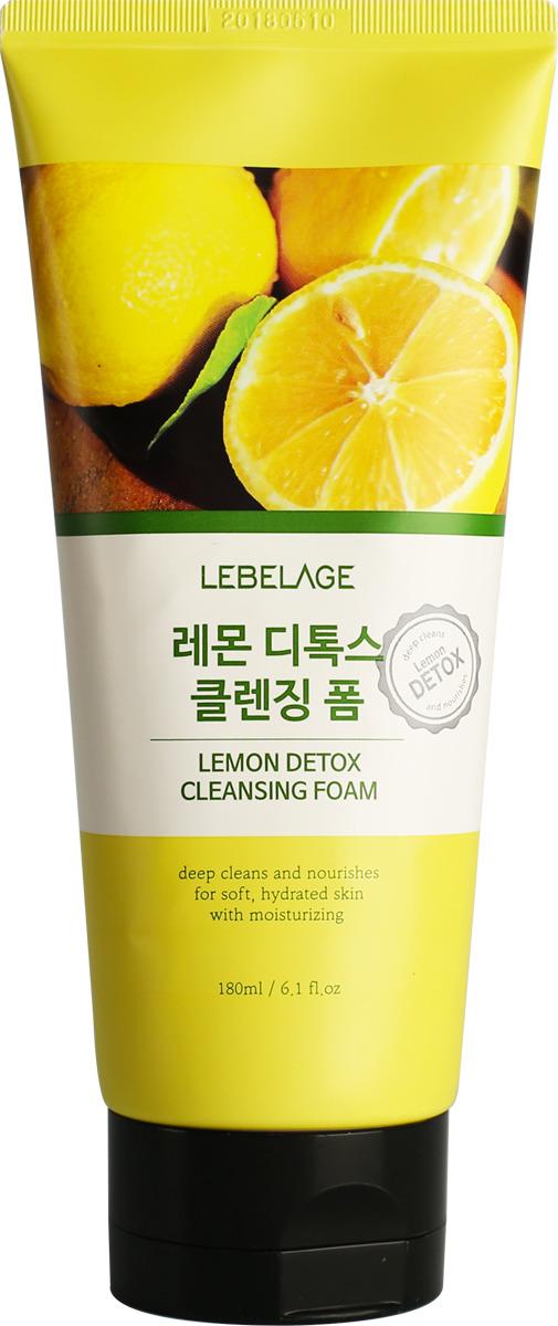 Детокс-пенка для умывания Lebelage, с лимоном, 180 мл детокс пенка для умывания lebelage с лимоном 180 мл