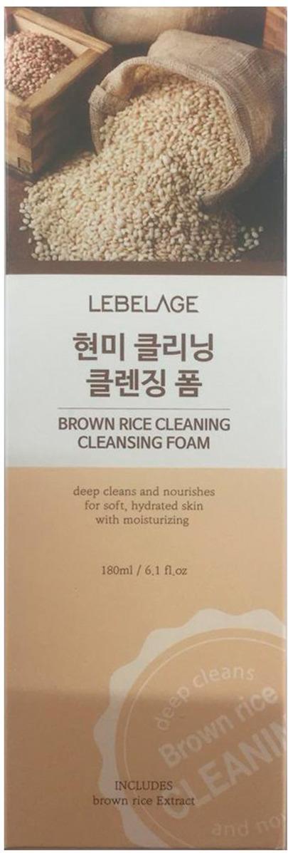 Пенка для умывания Lebelage, с экстрактом коричневого риса, 180 мл Lebelage