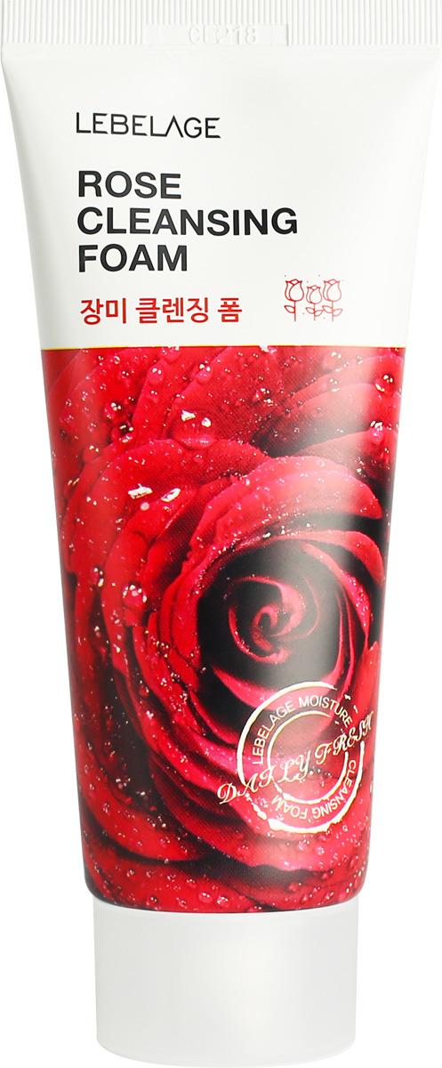 Пенка для умывания Lebelage, с экстрактом розы, 100 мл детокс пенка для умывания lebelage с лимоном 180 мл
