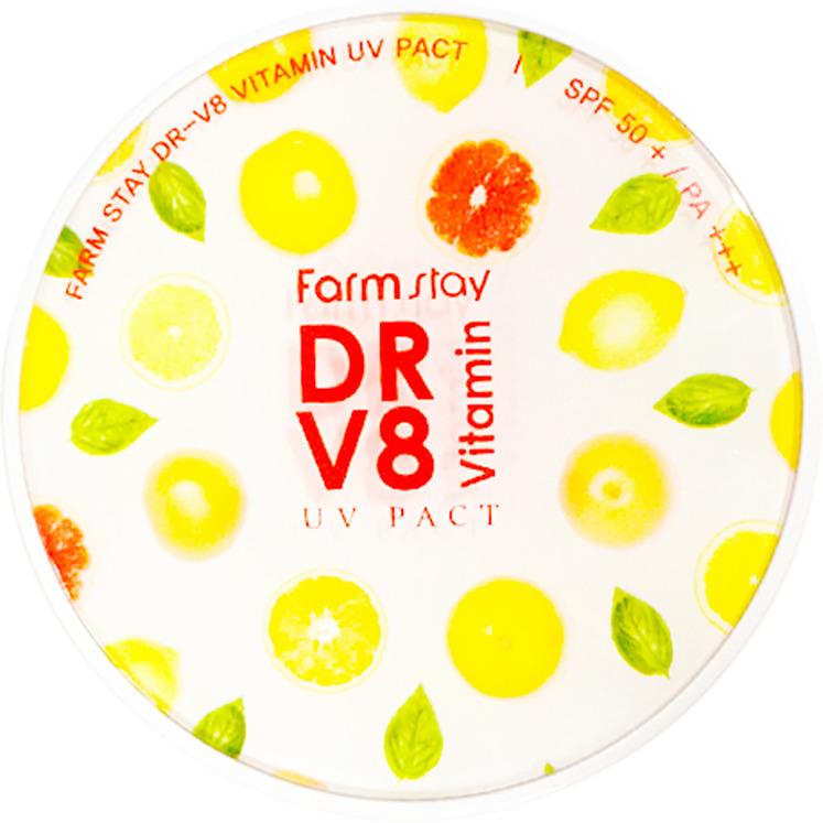 Пудра компактная FarmStay, с витаминами, SPF 50/PA++, 2 шт х 12 г otome пудра компактная тон 141 12г