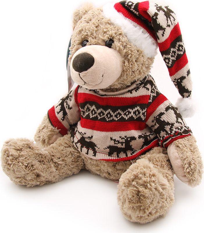 Мягкая игрушка Magic Bear Toys Мишка Фрэнк в свитере и шапке, 200545/11, высота 25 см стоимость