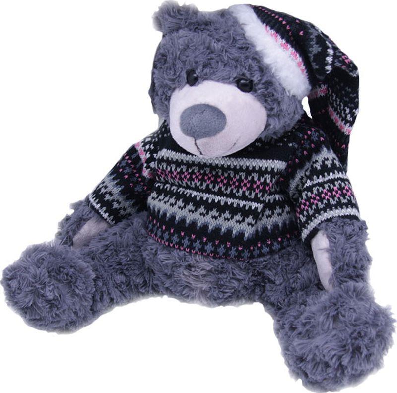 Фото Мягкая игрушка Magic Bear Toys Мишка Кейн в шапке и свитере, 51053/9, высота 20 см