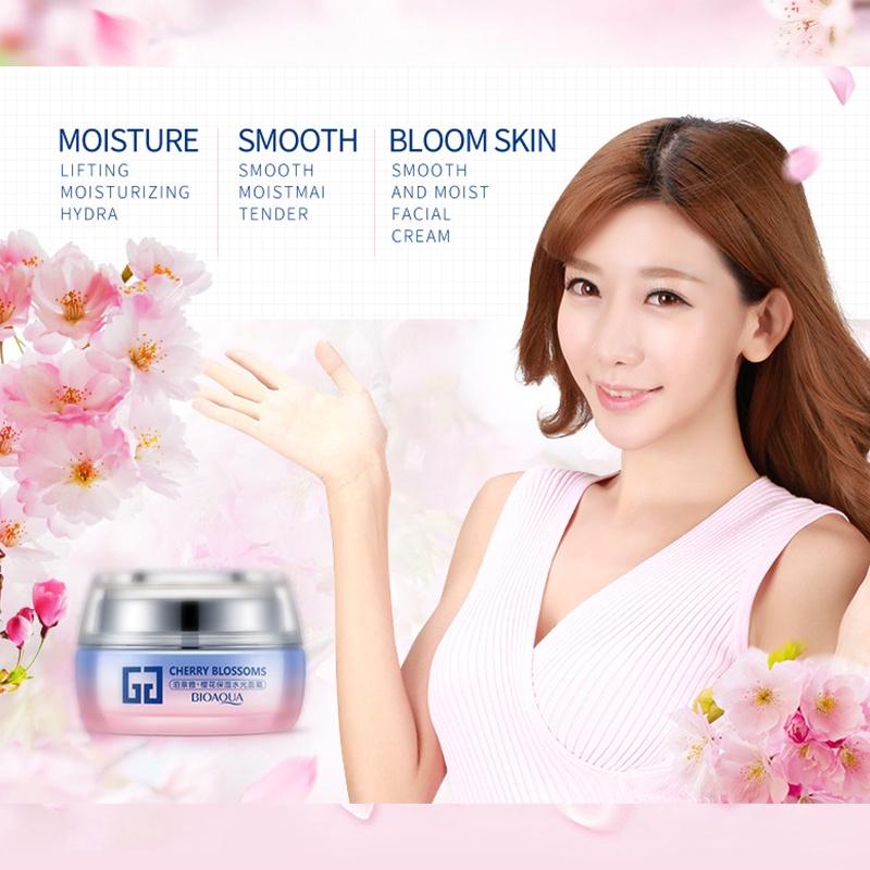 Крем для ухода за кожей BIOAQUA увлажняющий крем для лица с экстрактом сакуры и аминокислотами, 50 гр.  Bioaqua