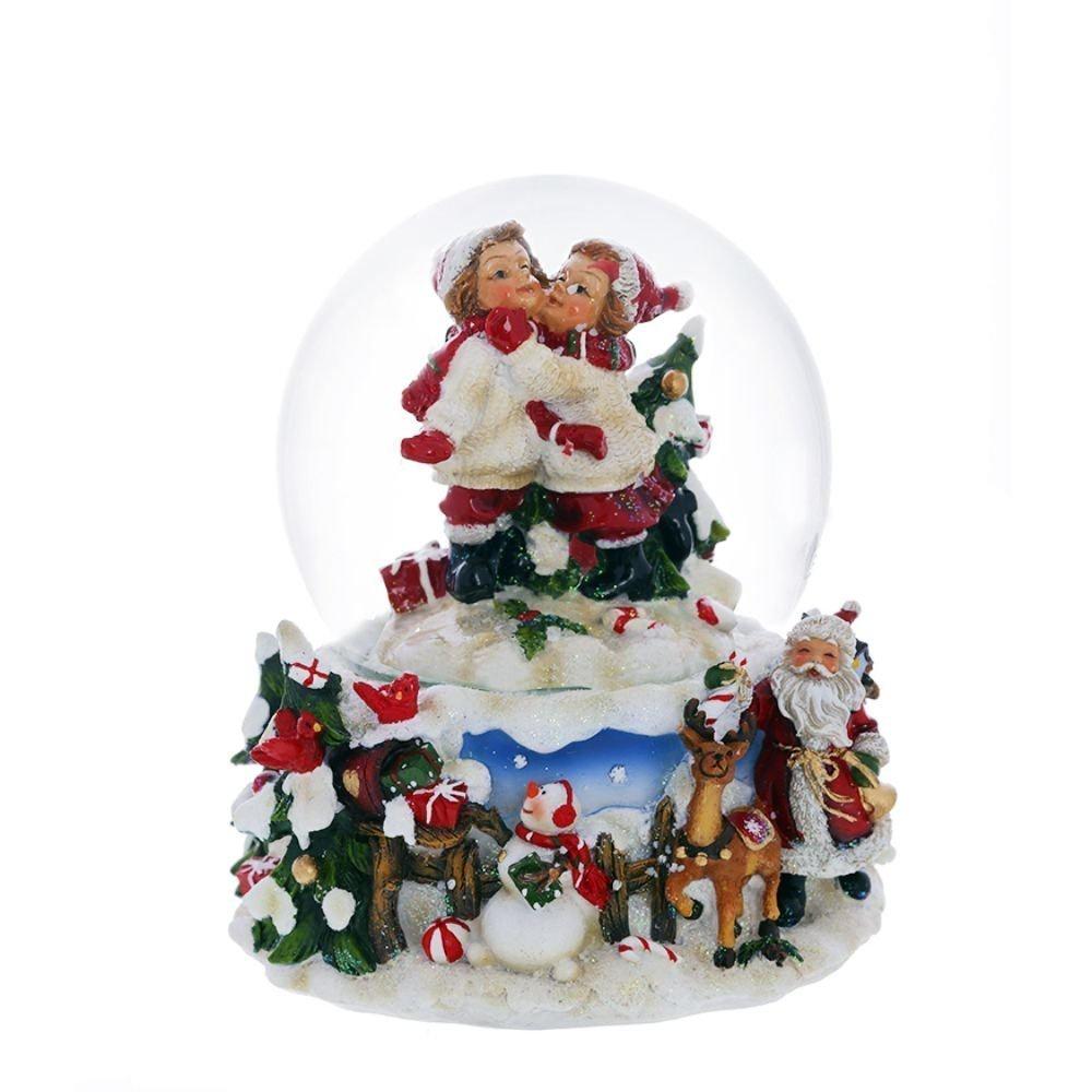 Фигурка Triumph Xmas музыкальная в шаре Triumph Xmas Дети, TXRK-721754, 15 смTXRK-721754Фигурка музыкальная в стеклянном шаре со снегом. При включении механизма снег начинает вращаться и звучит новогодняя мелодия. Что подарит вам радужное новогоднее настроение.