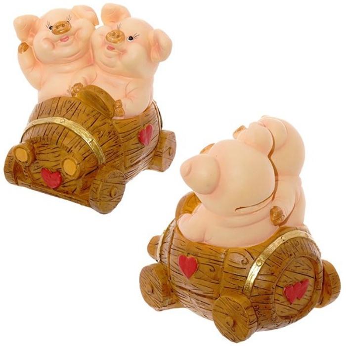 Копилка свинки Настоящая любовь, высота 13 см