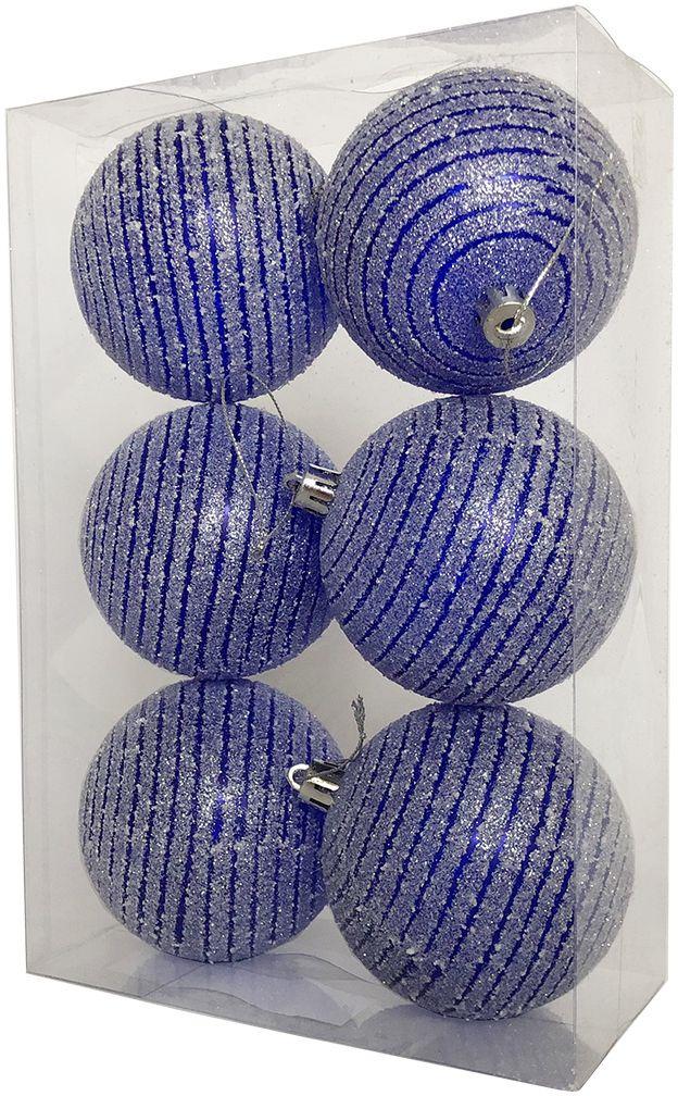 Набор елочных шаров Магия праздника, 6 шт. , NY050, диаметр 8 см набор елочных шаров магия праздника диаметр 8 см 6 шт ny036