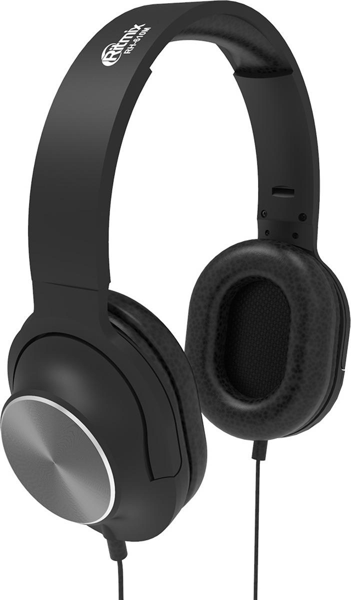 Наушники Ritmix RH-610М, 10102385, black