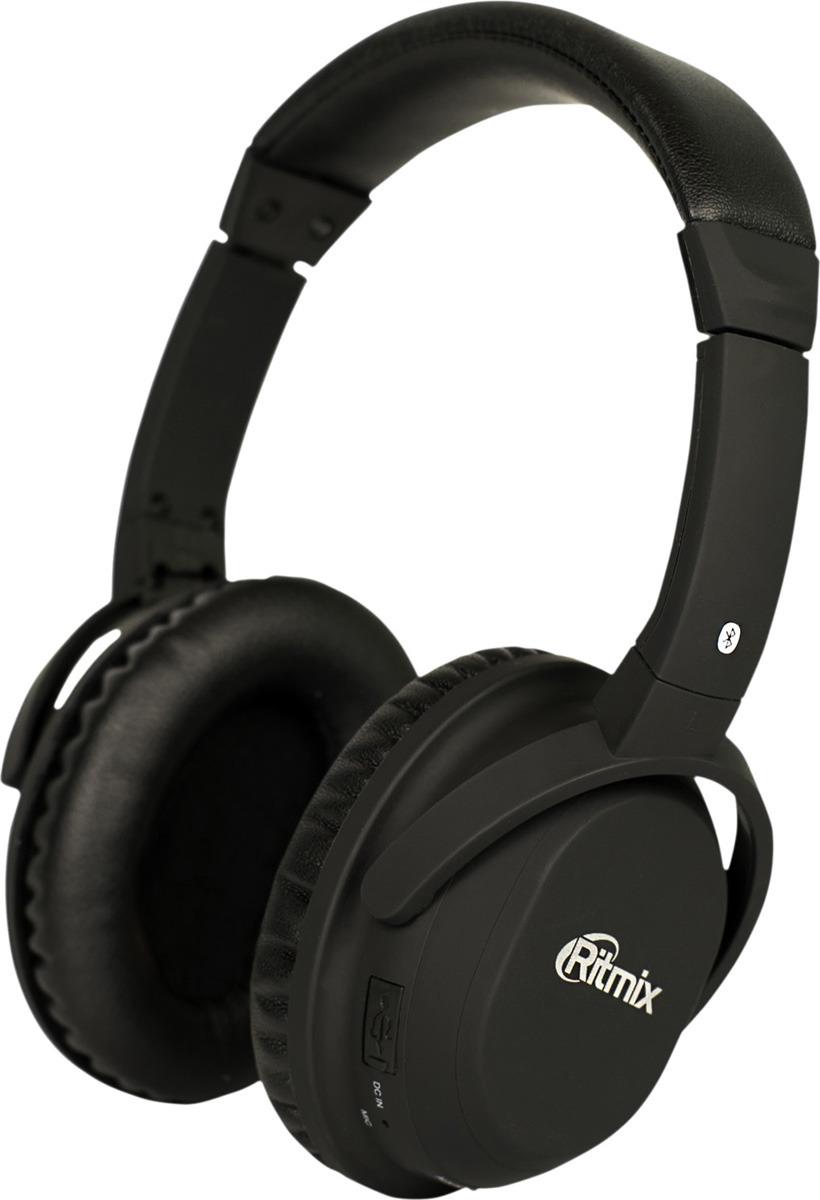 Беспроводные наушники Ritmix RH-499BTH, черный беспроводные наушники ritmix rh 445 cbth черный