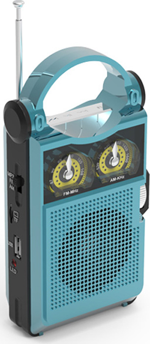 Радио будильник Ritmix RPR-333, blue радиоприемник ritmix rpr 444