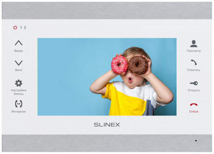Монитор видеодомофона Slinex SL-07M, Silver White