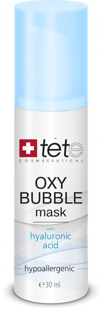 Маска для лица пенная кислородная TETe Cosmeceutical Oxy Bubble Mask, 30 мл7640179920377Пенящаяся маска с активным комплексом Oxygeskin направленно улучшает снабжение тканей кислородом, способствует быстрой тонизации кожи, возвращает ей сияние, мягко и качественно очищает от загрязнений и токсинов, стимулирует клеточное дыхание. Также в составе маски комплекс PURISOFT на основе активного пептида, экстрагированного из семян моринги, который нейтрализует токсины и загрязняющие агенты, возобновляет природные защитные системы кожи. Действие маски основано на реакции состава с кислородом. При контакте с воздухом и кожей маска постепенно превращается в нежную кремообразную пену. Образовавшиеся пузырьки выполняют микромассаж, активируют проникновение активных компонентов состава и моментально освежают кожу.