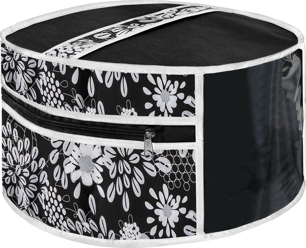 Чехол для шапок Cofret Русский шик. Метелица, 816, черный для шитья головного убора нужна заготовка