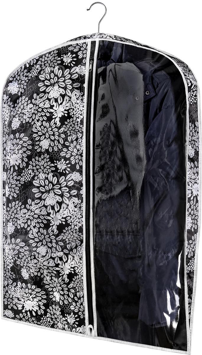 Чехол для одежды Cofret Русский шик. Метелица, малый, 817, черный офисные вешалки напольные для одежды