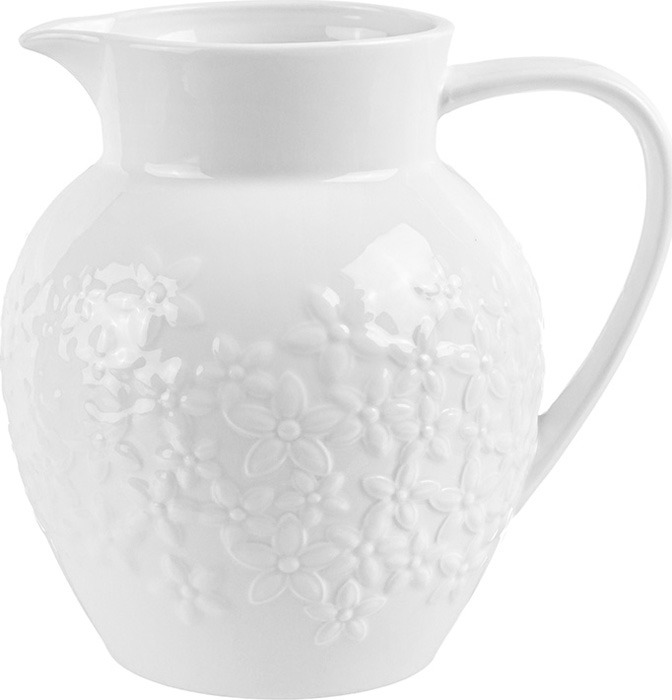Кувшин Elan Gallery Цветочки, 950105, белый, 1.3 л кувшин elan gallery розы 1 л