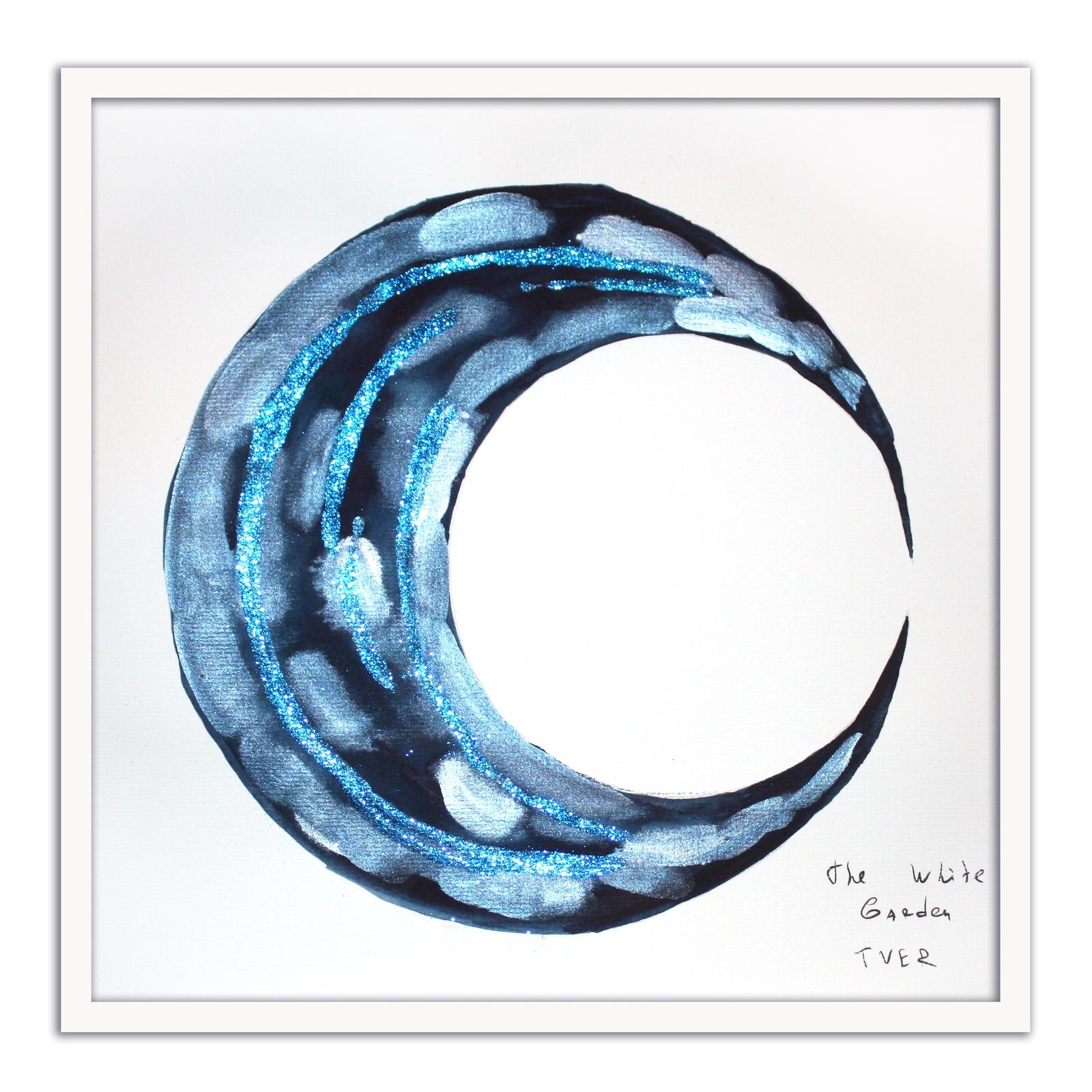 Картина The White Garden TVER Синий месяц, серебристый картина фото