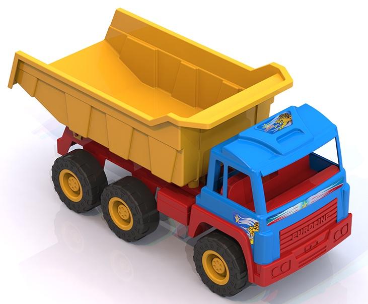 Самосвал Нордпласт Суперстар, 431628/, разноцветный, 32 x 25 x 67 см431628/Яркая надежная машина на 6 колесах на металлических осях с вместительным кузовом и красочной кабиной. Без нее просто не обойтись на стройке! Устойчивые рельефные колеса и крепкий кузов позволяют выдержать достаточную нагрузку и перевезти игрушки или стройматериалы в пункт назначения. Кузов поднимаеся и опускается, внутрь салона можно поместить фигурку водителя. Машинка знакомит ребенка с различными видами техники, их особенностями и принципом действия, развивают мелкую моторику, воображение, цветовое восприятие. *безопасный прочный пластик, четкая деталировка, яркие цвета, надежное крепление подвижных деталей, вместительный кузов, размер 67*25*32 см