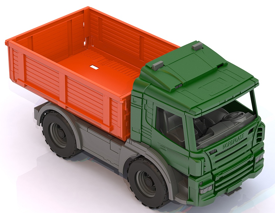 Машина бортовая Нордпласт Спецтехника, 201/, разноцветный, 39 х 19,5 х 21 см бетономешалка нордпласт спецтехника бетономешалка зеленый 272