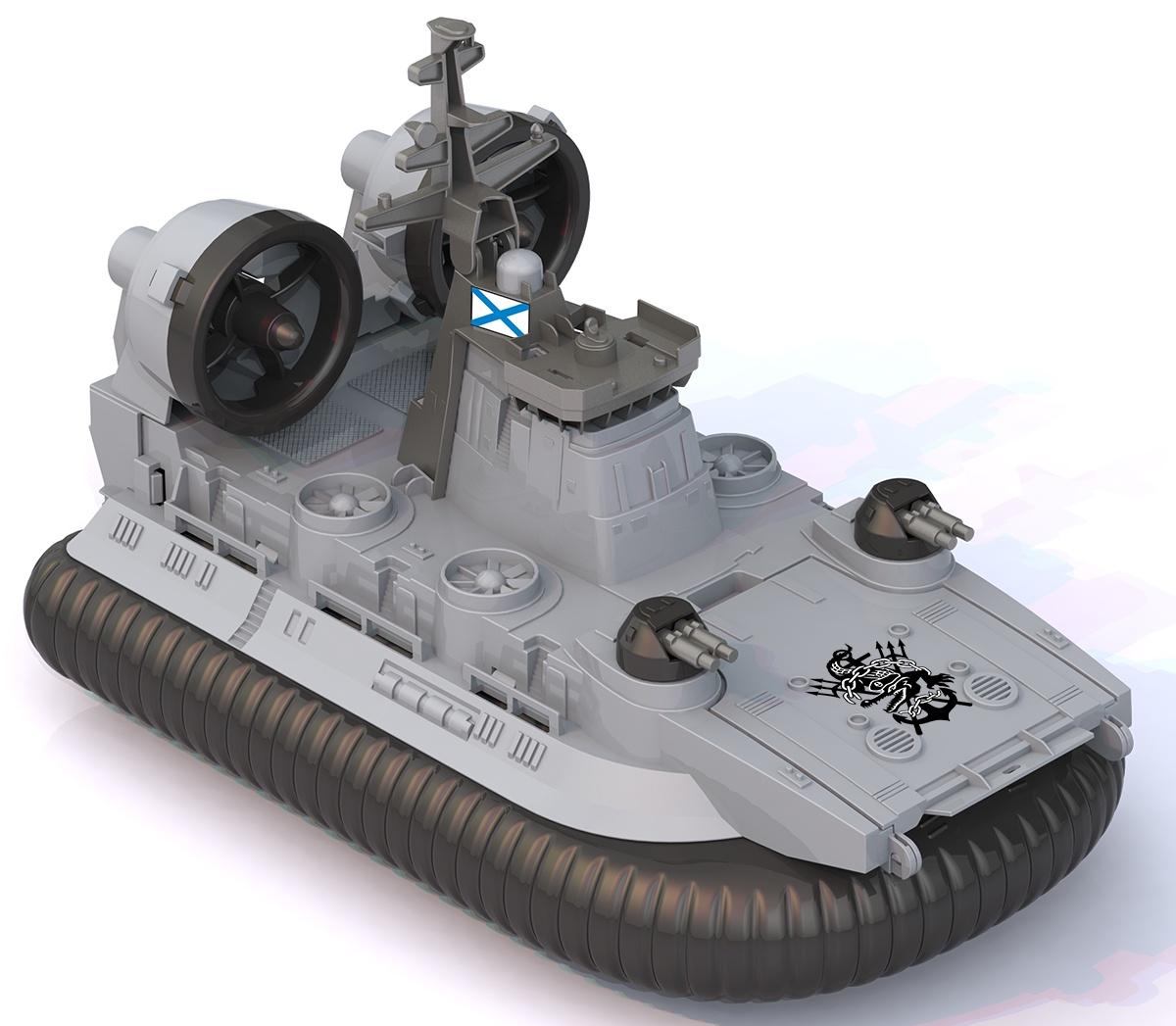 Машинка Нордпласт Катер-амфибия на воздушной подушке